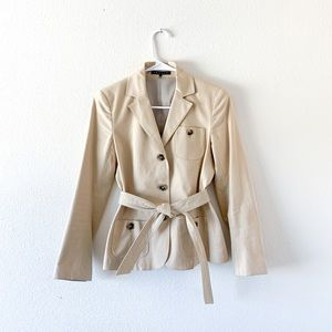 Theory Khaki Crop Length Jacket
